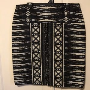 Tory Burch black and white pencil skirt. 14 NWT
